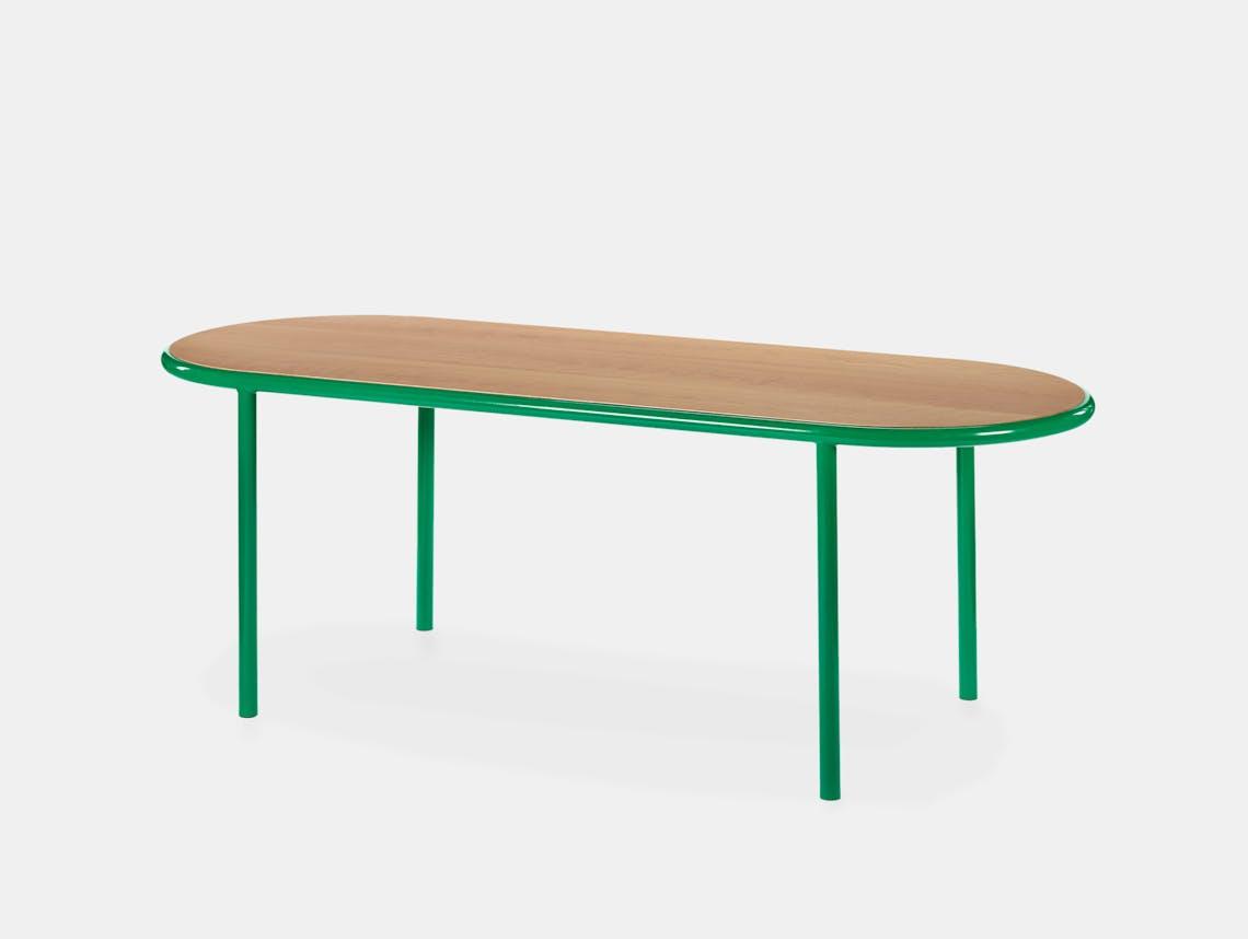 Muller van severen wooden table oval green cherry