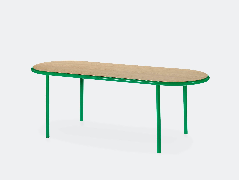 Muller van severen wooden table oval green oak