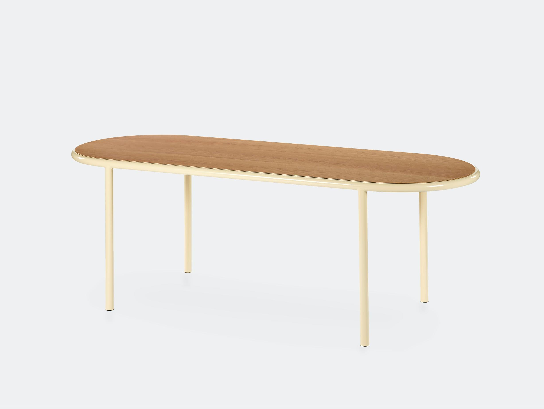 Muller van severen wooden table oval ivory ivory cherry