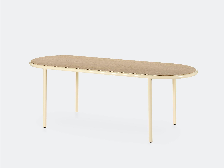 Muller van severen wooden table oval ivory ivory oak