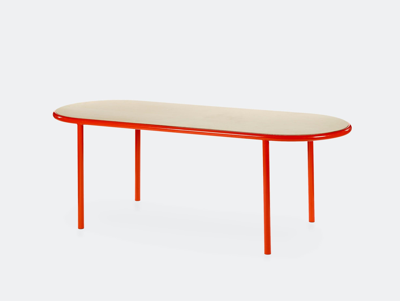 Muller van severen wooden table oval red birch