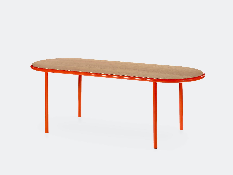 Muller van severen wooden table oval red cherry