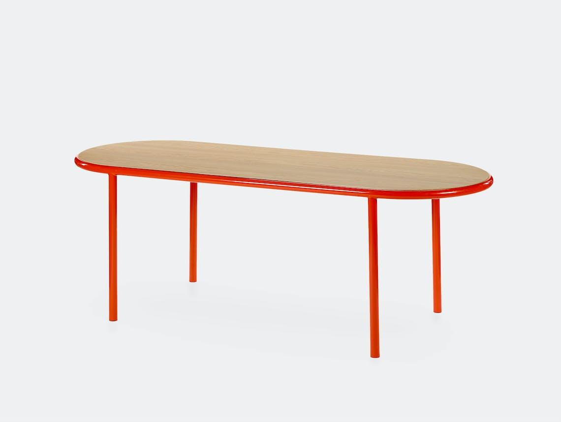 Muller van severen wooden table oval red oak