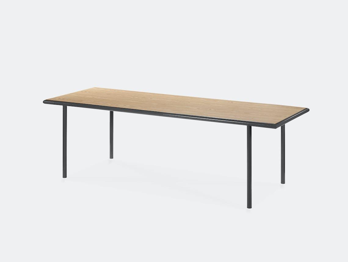 Muller van severen wooden table rectangular black oak