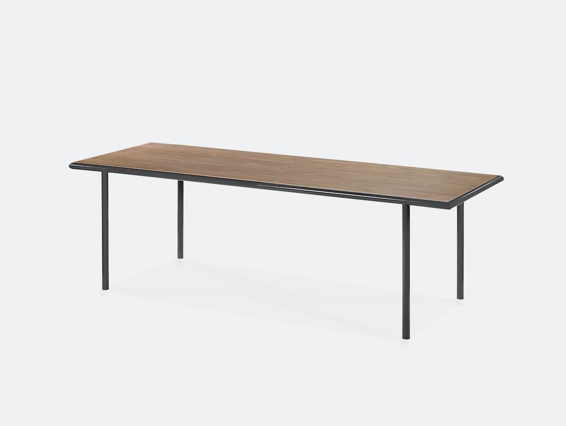 Muller van severen wooden table rectangular black walnut
