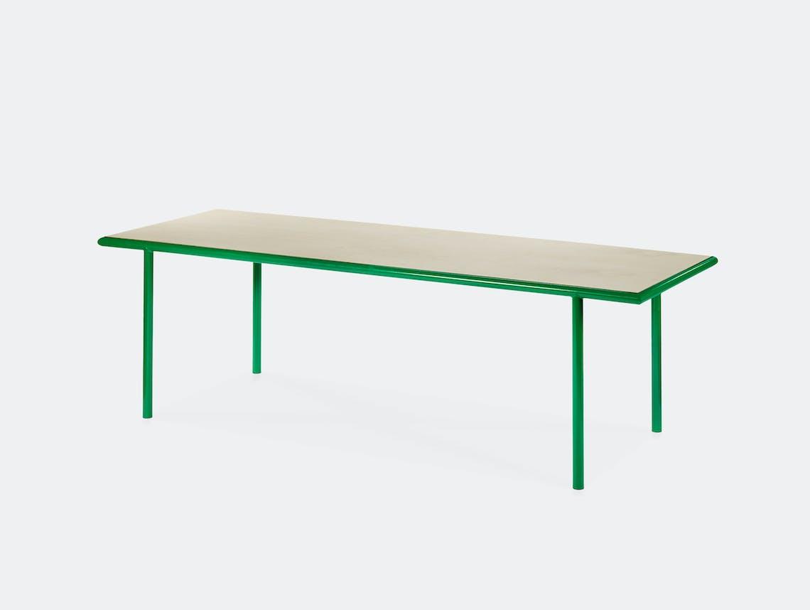Muller van severen wooden table rectangular green birch