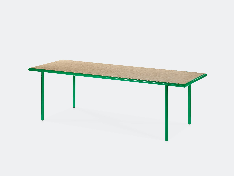 Muller van severen wooden table rectangular green oak