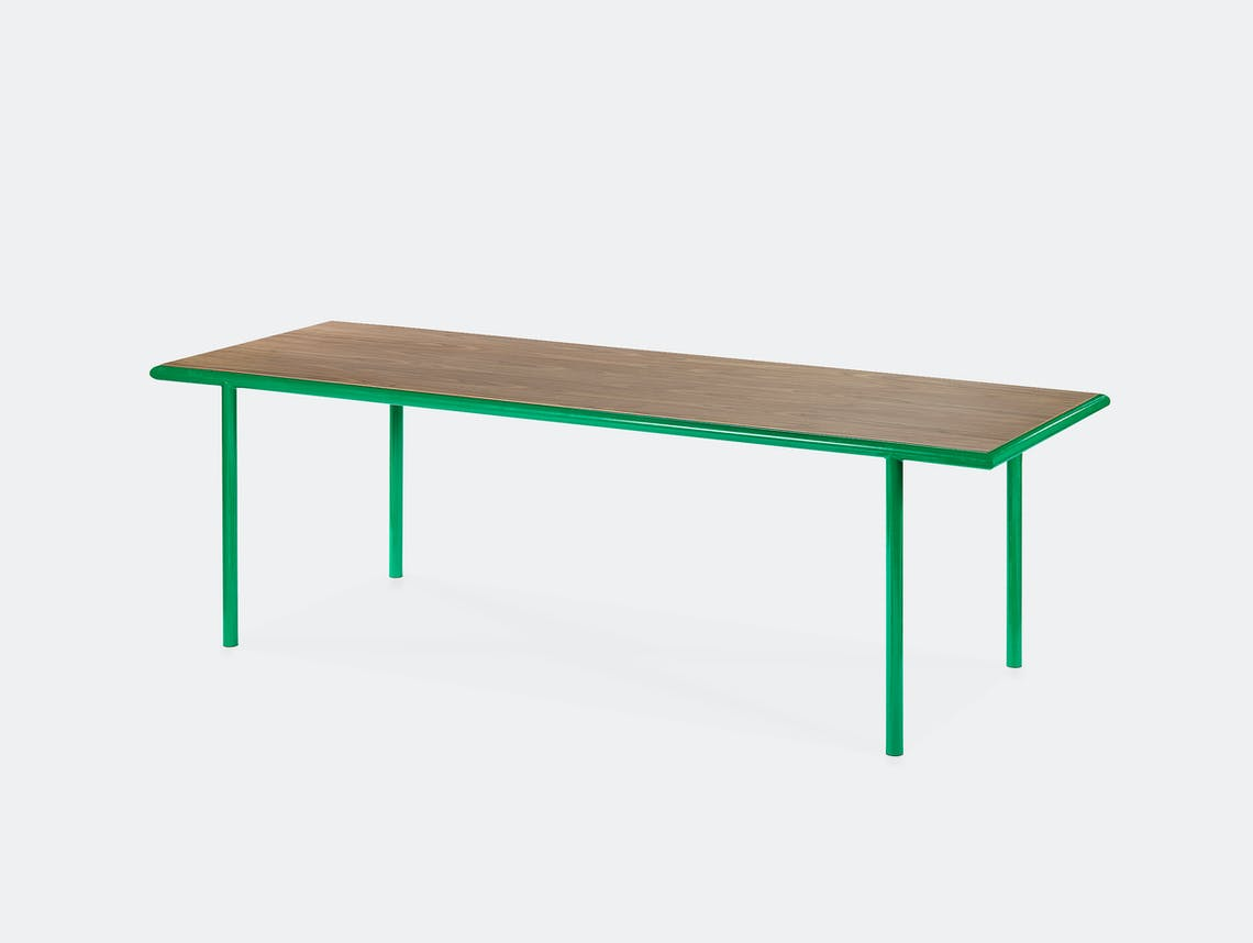 Muller van severen wooden table rectangular green walnut