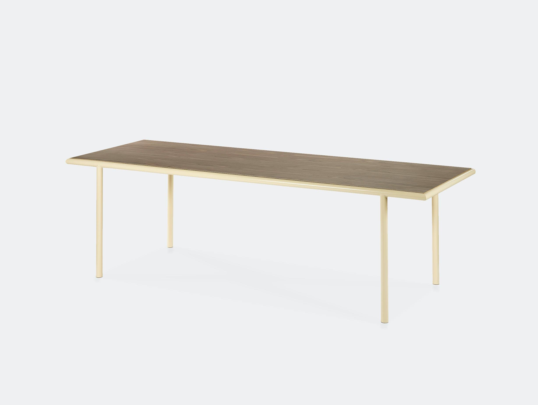 Muller van severen wooden table rectangular ivory walnut
