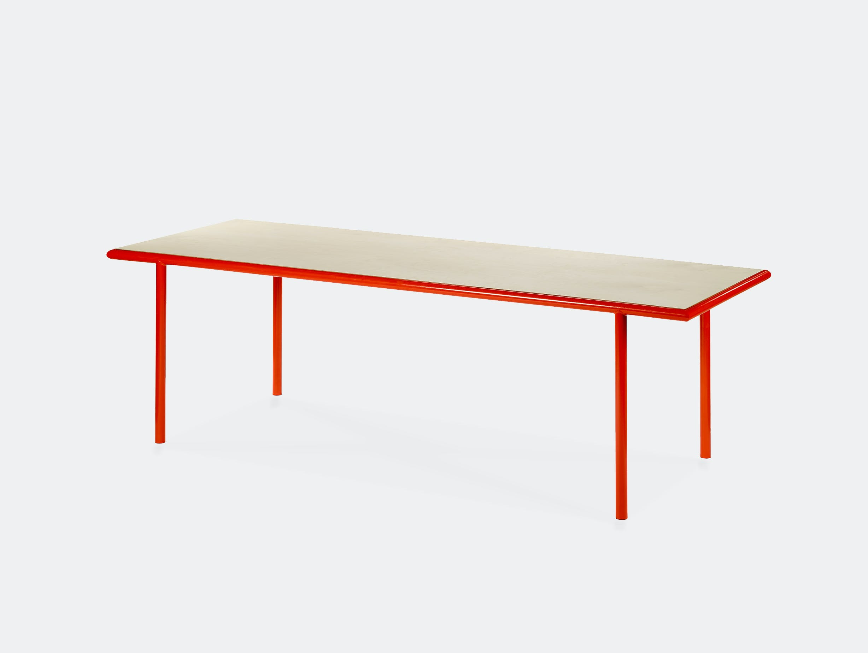 Muller van severen wooden table rectangular red birch