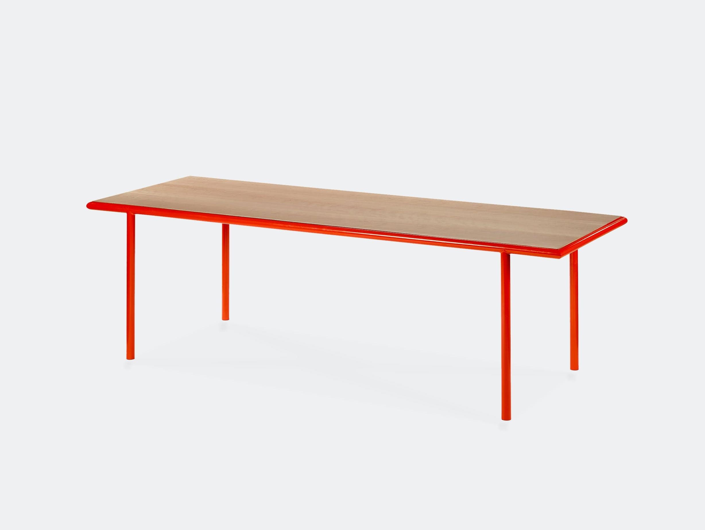 Muller van severen wooden table rectangular red cherry