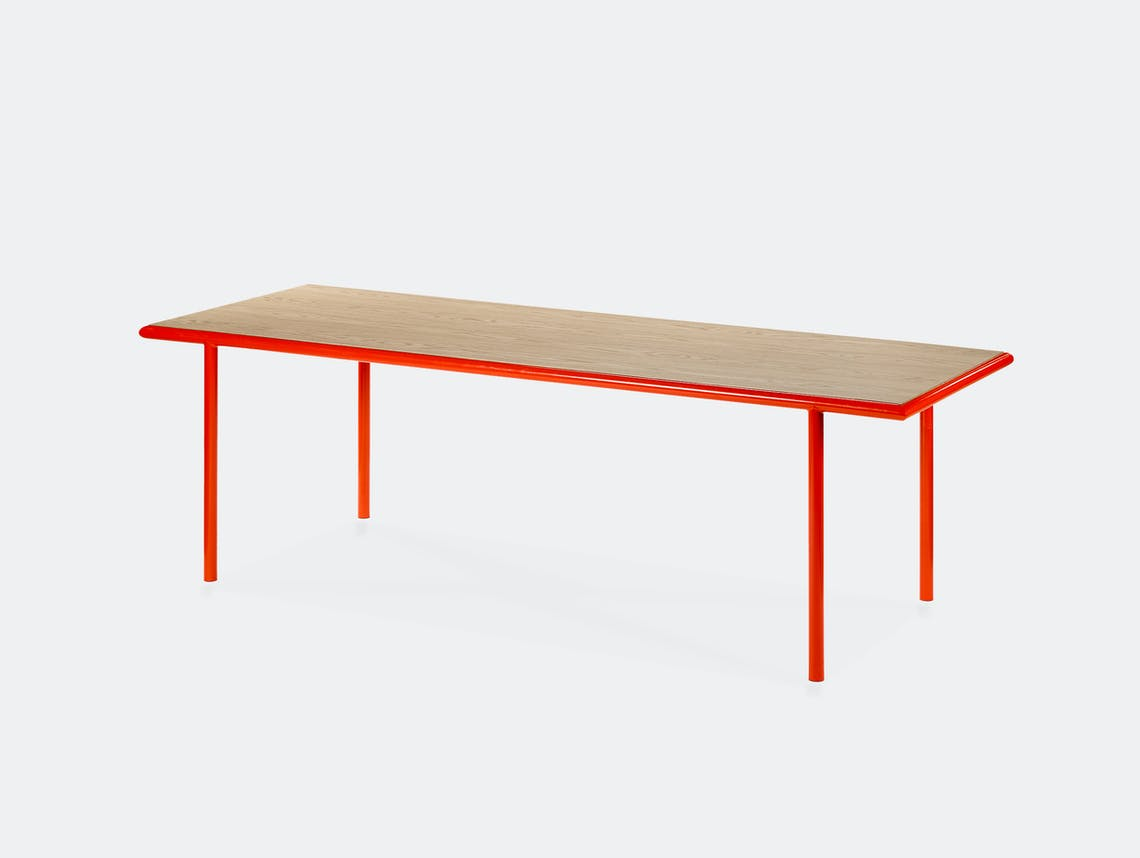 Muller van severen wooden table rectangular red oak