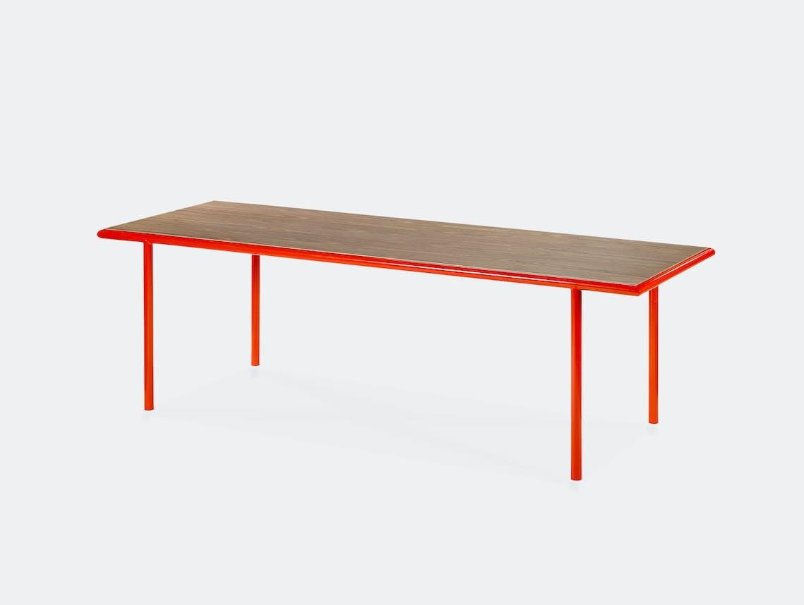 Muller van severen wooden table rectangular red walnut