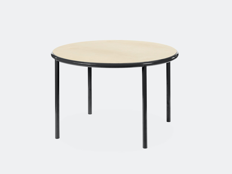 Muller van severen wooden table small round black birch