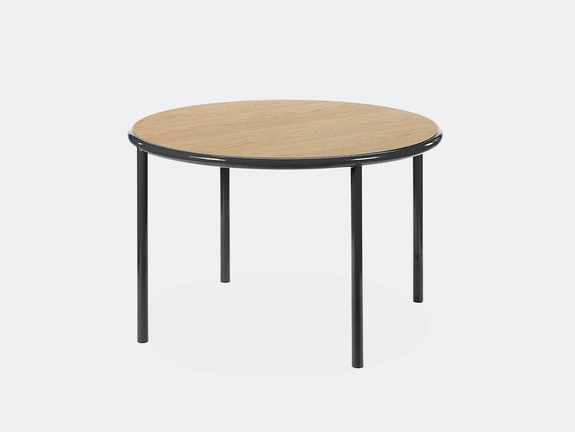 Muller van severen wooden table small round black oak