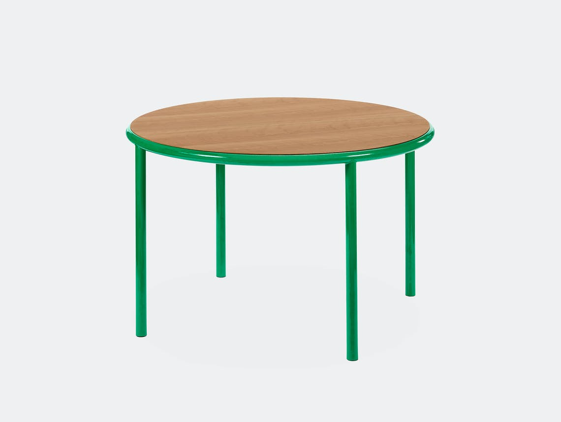 Muller van severen wooden table small round green cherry