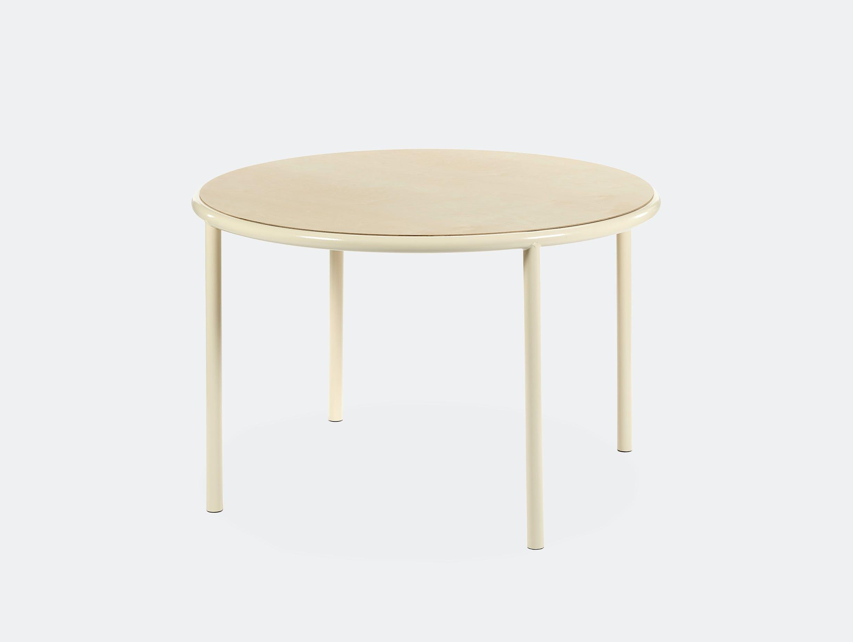 Muller van severen wooden table small round ivory birch