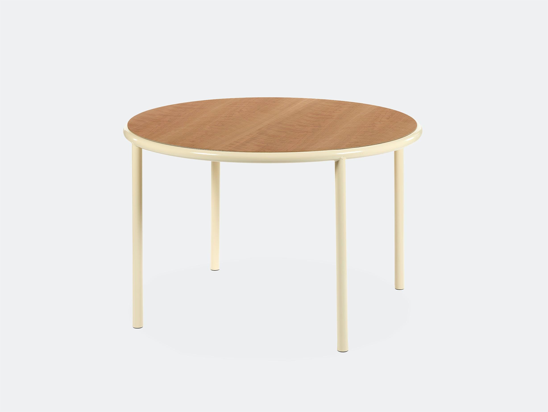 Muller van severen wooden table small round ivory cherry