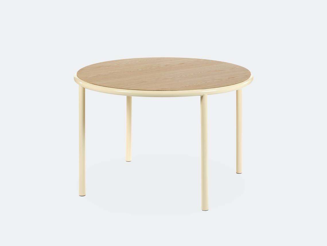 Muller van severen wooden table small round ivory oak