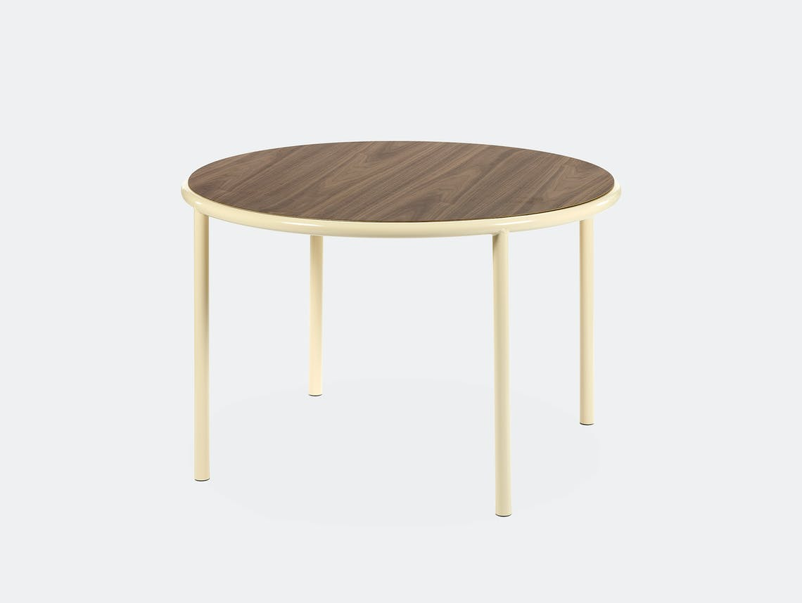 Muller van severen wooden table small round ivory walnut