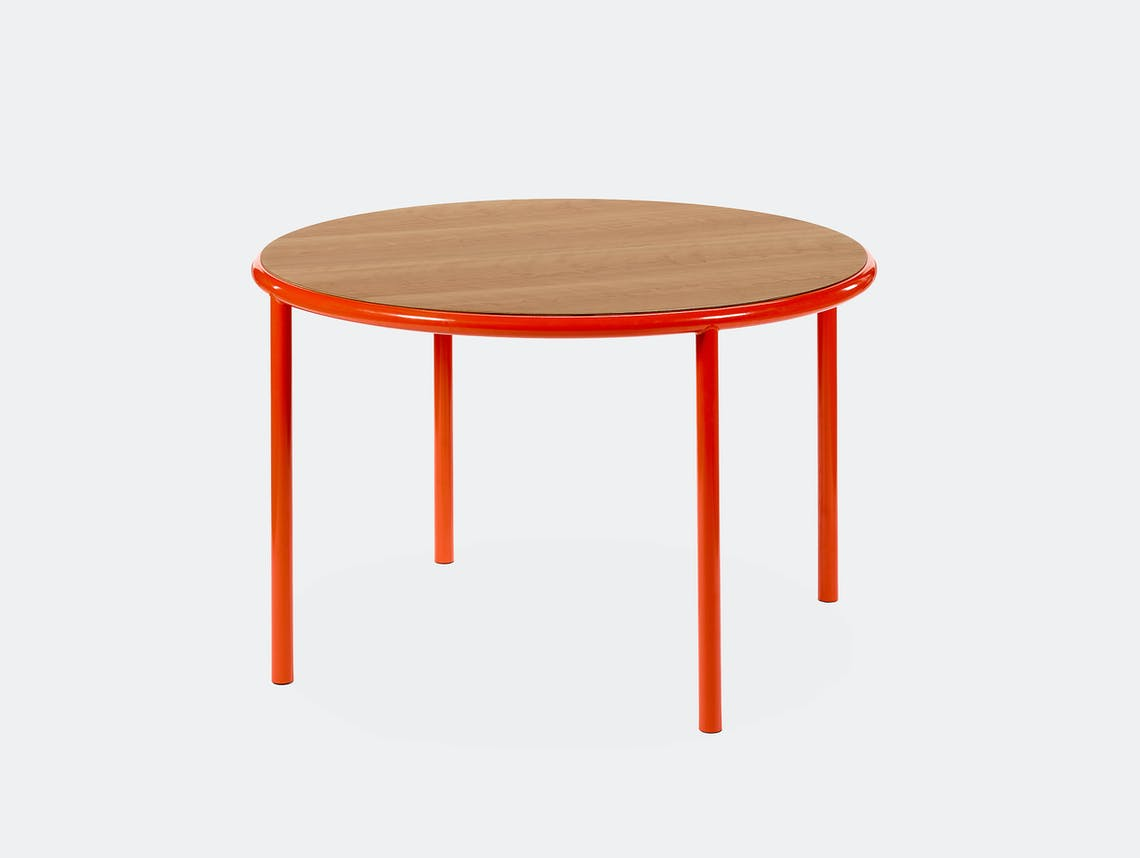 Muller van severen wooden table small round red cherry