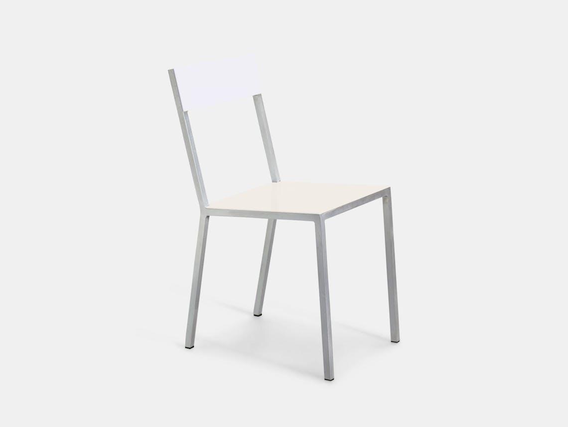 Valerie Objects Alu Chair Seat Ivory Backwit Muller Van Severen