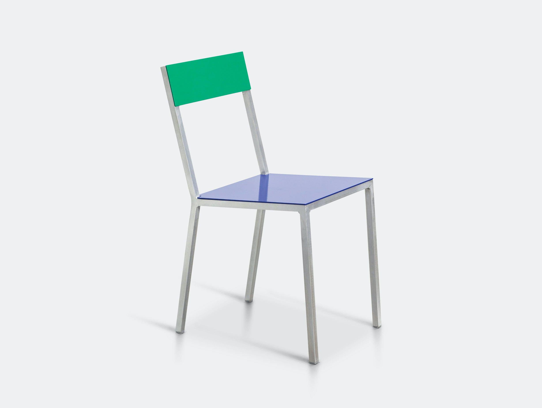 Valerie Objects Alu Chair Seatblue Backgreen Muller Van Severen