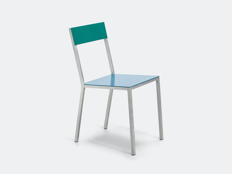 Valerie Objects Alu Chair Seathpblue Backhpgreen Muller Van Severen