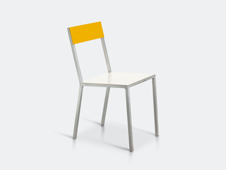 Valerie Objects Alu Chair Seatwhite Backyellow Muller Van Severen