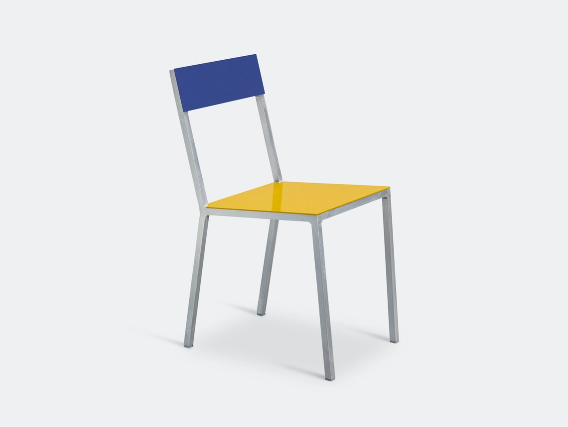 Valerie Objects Alu Chair Seatyellow Backbleu Muller Van Severen