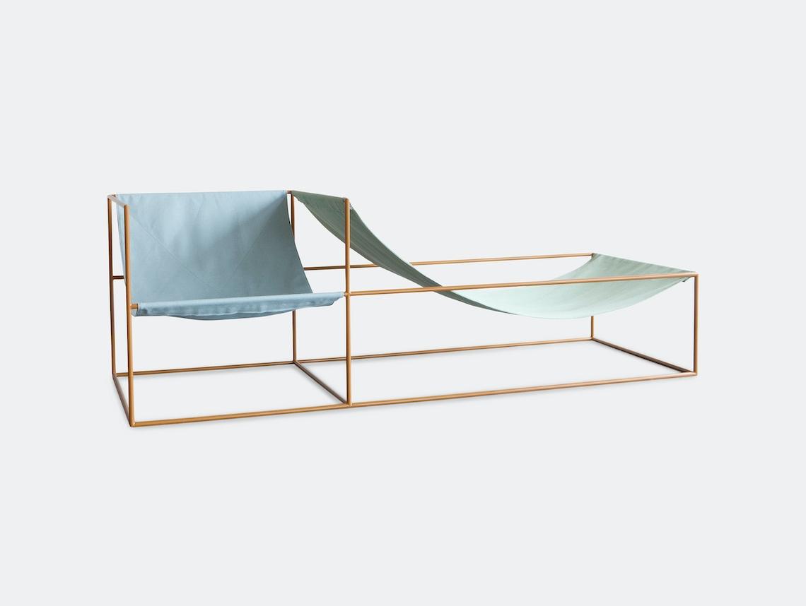 Valerie Objects Duo Seat Bleu Green Muller Van Severen