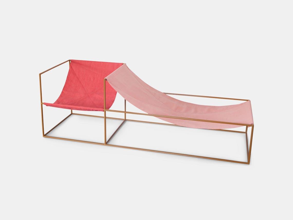 Valerie Objects Duo Seat Red Pink 2 Muller Van Severen