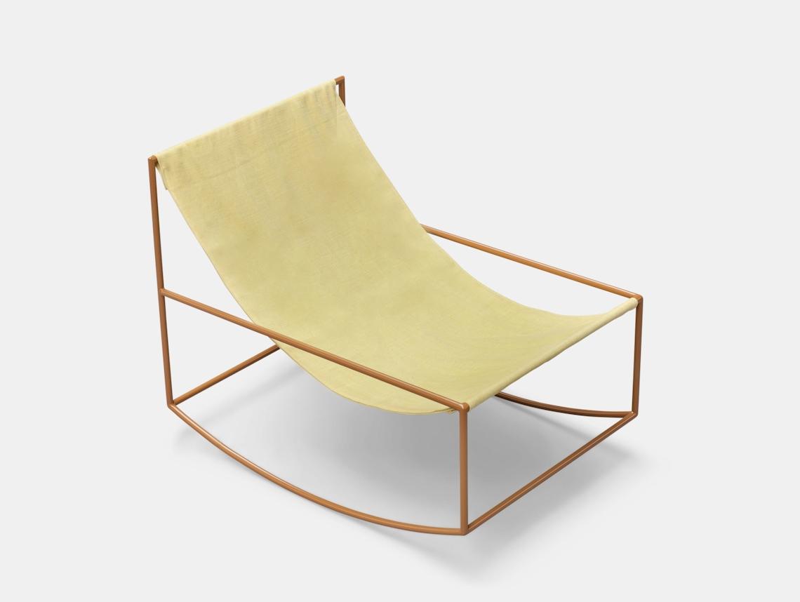 Valerie Objects Rocking Chair Yellow Muller Van Severen