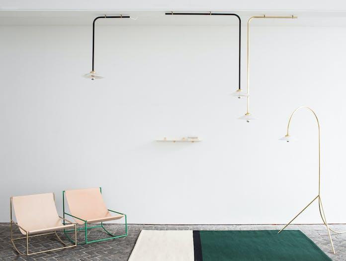 Muller van severen rocking chair brass 2