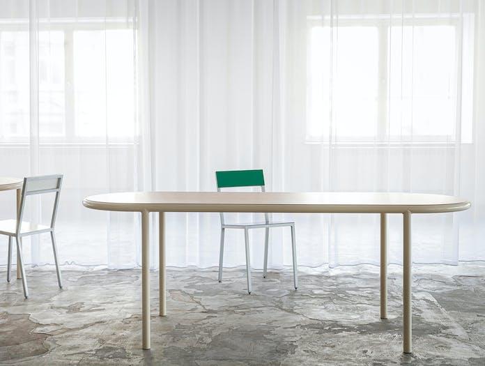 Muller van severen wooden table oval ls 5