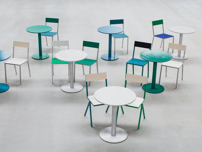 Valerie Objects Alu Chair And Table 2 Muller Van Severen