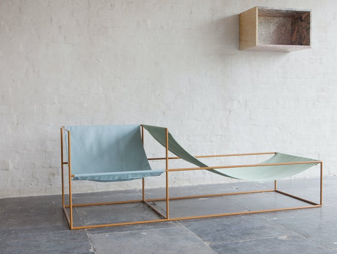 Valerie Objects Duo Seat Blue Green Muller Van Severen