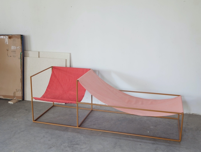 Valerie Objects Duo Seat Red Pink Muller Van Severen