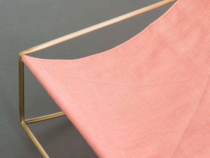 Valerie Objects Rocking Chair Brass Pink Detail Muller Van Severen
