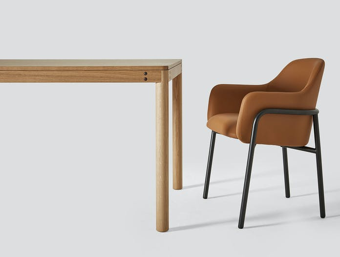 Very Good And Proper Dowel Table Mt Club Chair