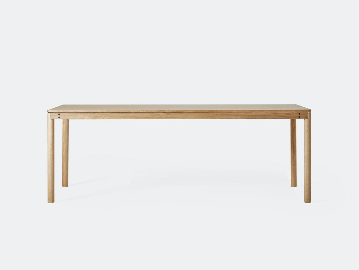 Very Good And Proper Dowel Table Oak Klauser And Carpenter