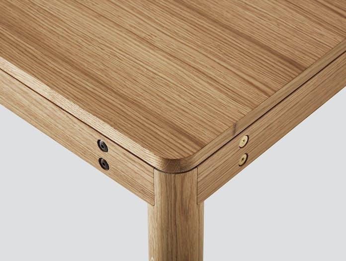Very Good And Proper Dowel Table Oak Corner Detail Klauser And Carpenter