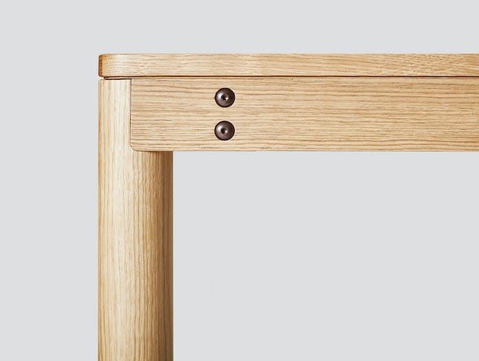 Very Good And Proper Dowel Table Oak Corner Detail Side Klauser And Carpenter