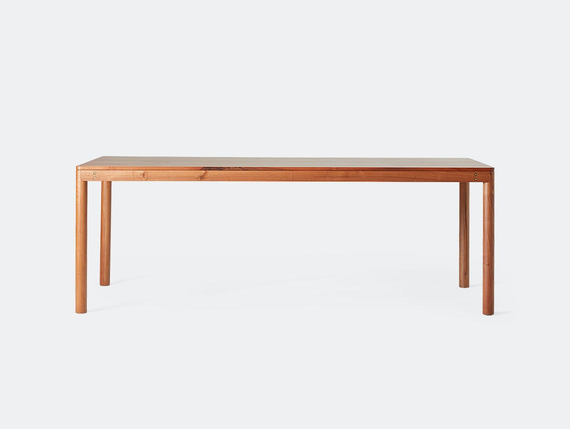 Very Good And Proper Dowel Table Walnut Klauser And Carpenter
