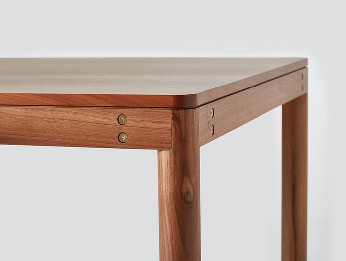 Very Good And Proper Dowel Table Walnut Detail Klauser And Carpenter
