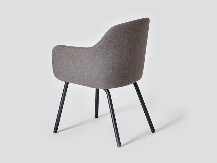 Very Good And Proper Mt Club Chair Metal Legs Back Ed Carpenter
