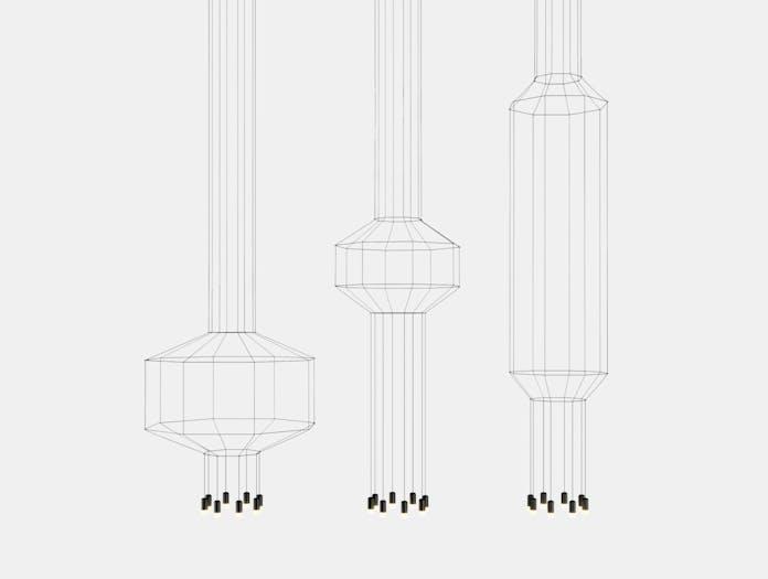 Vibia Wireflow Pendant Series Arik Levy