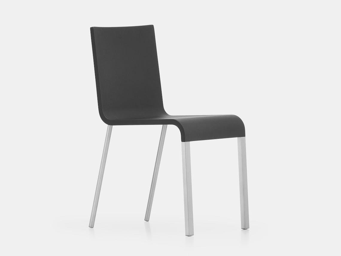 Vitra 03 chair black van severen silver ct 2