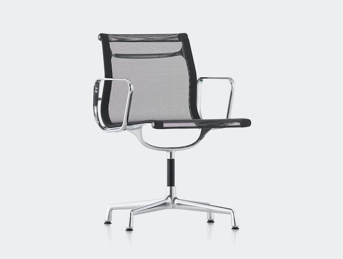 Vitra Aluminium Group Chair Black Mesh Charles And Ray Eames