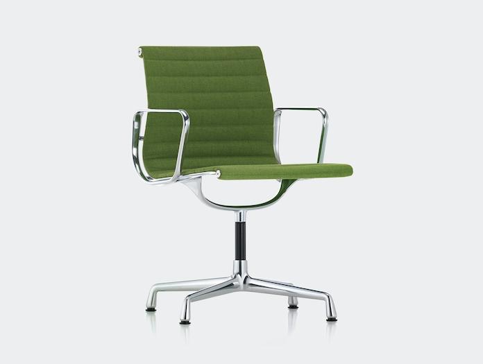 Vitra Aluminium Group Chair Green Charles And Ray Eames